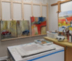 Rene Griffith's art studio in Indialantic, Florida.