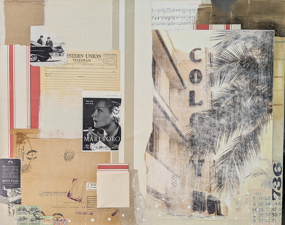 A Bygone Era, mixed-media artwork by Rene Griffith.