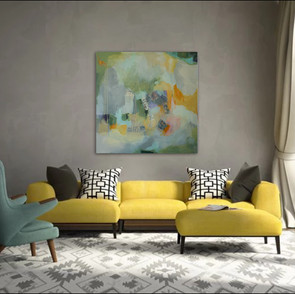 """""""Silver Lining"""" shown in a livingroom"""