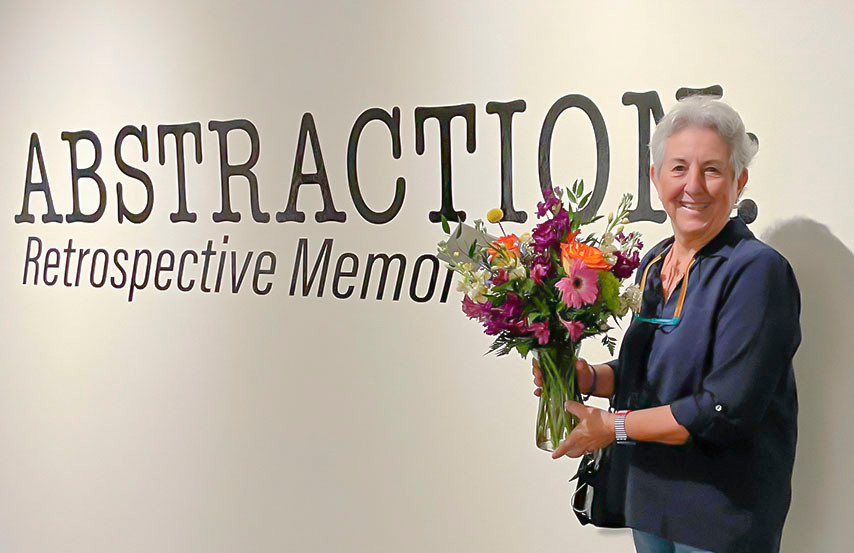 Rene Griffith at opening of Abstraction: Retrospective Memories at the Foosaner Art Museum.