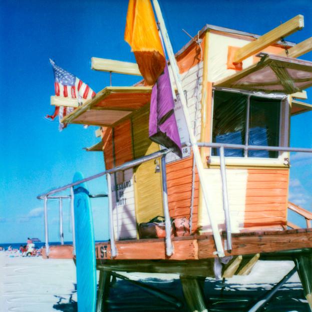 Orange Trailer Lifeguard Stand