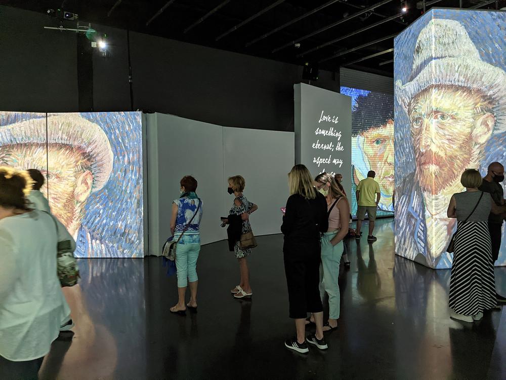 Van Gogh exhibit at the Dali Museum in St. Petersburg, FL.