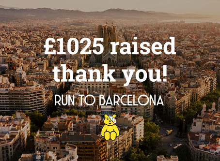 Run to Barcelona update – we've finished and hit our fundraising goal!