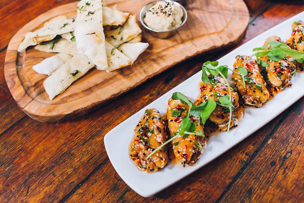 chicken wings in sweet chilli & sesame jam