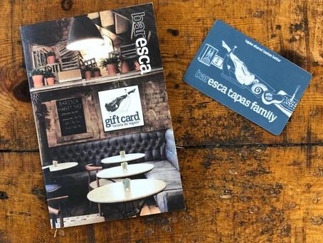 introducing – the baresca tapas family gift card