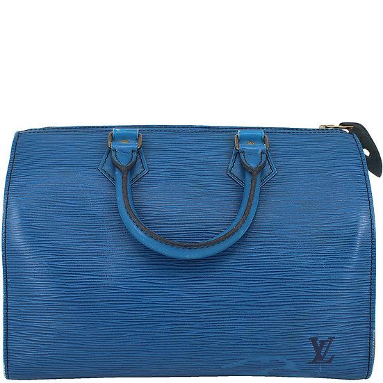 Louis Vuitton Speedy 30 Bleu Toledo