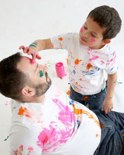 Vin and Dad Paint