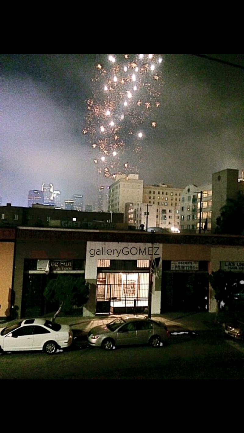 Fireworks at galleryGOMEZ
