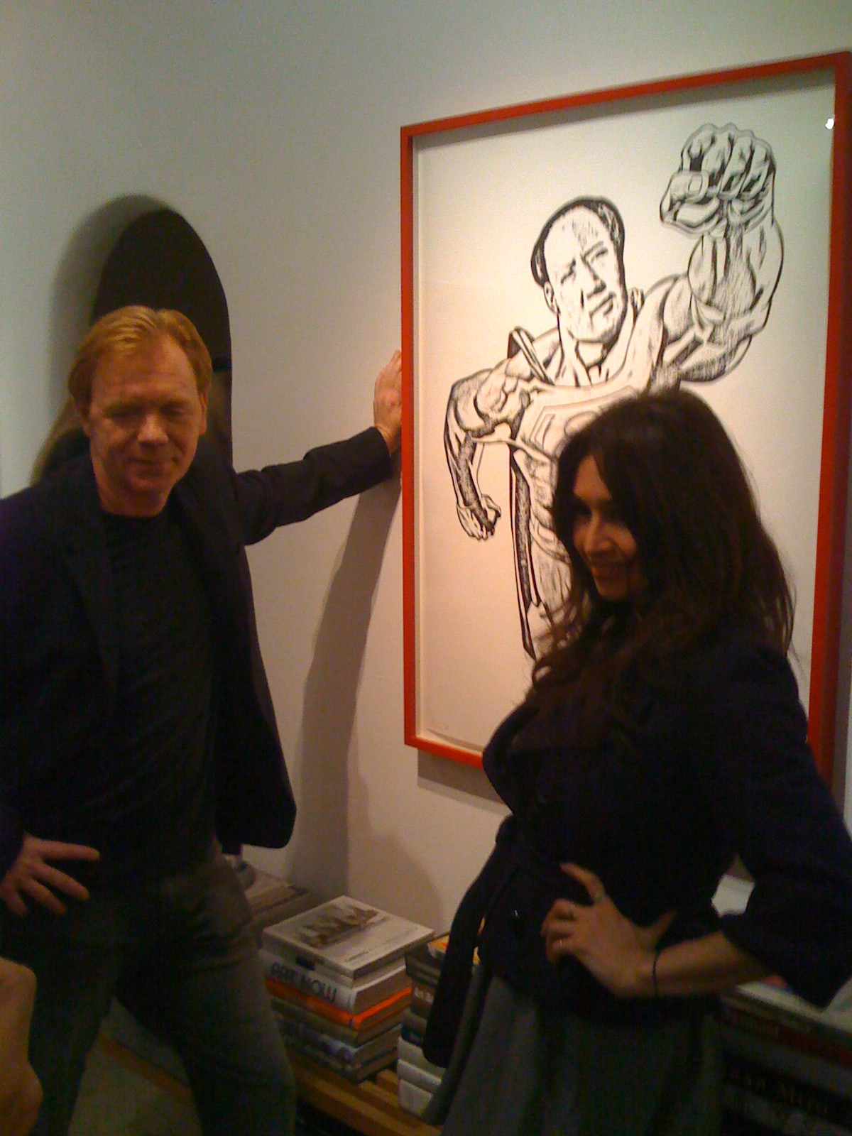 Gallery Brown Show with David Caruso