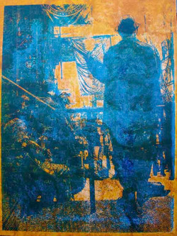 Song in Blue 36X48