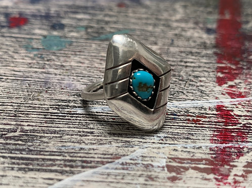 Turquoise and sterling silver (size 3 1/2)
