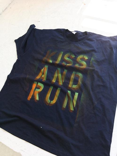 Kids and Run Navy Tee