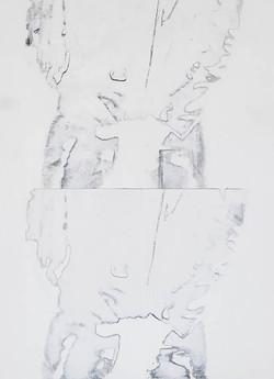Stance In White 30X40