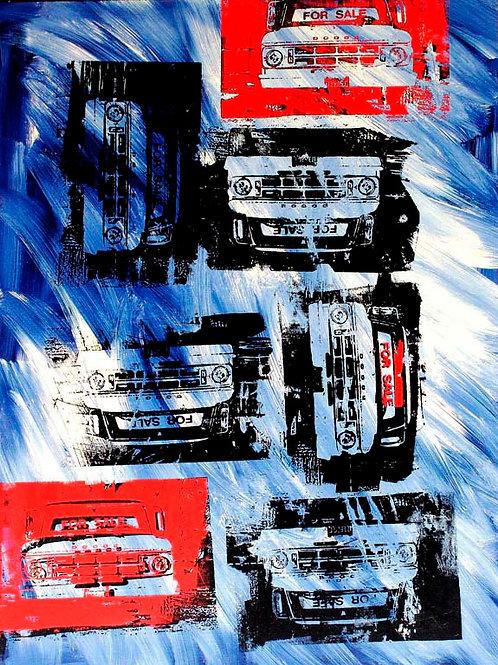 FREE ENTERPRISE 36X48 Acrylic and Silkscreen on Canvas