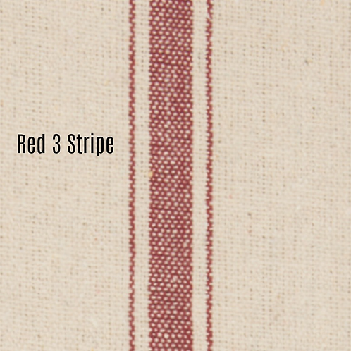 """Farmhouse Three Stripe Placemats (Red) - Set of 4"" from the Kitchen & Tabletop Linens Collection @InsidePlannet."