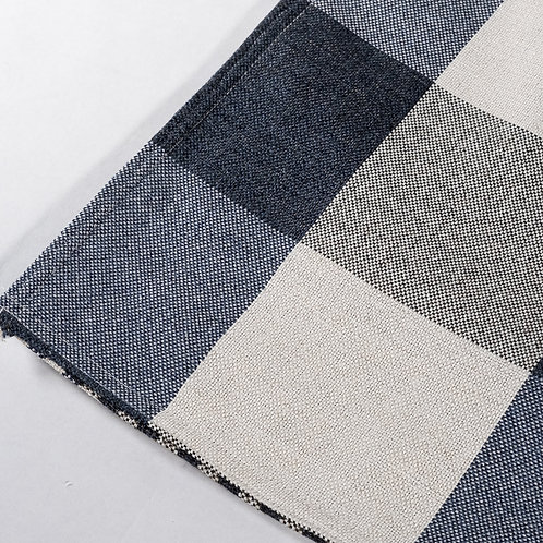 """Farmhouse Navy/White Buffalo Check Plaid Table Runner"" from the Kitchen & Tabletop Linens Collection @InsidePlannet."