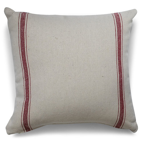 """""""Farmhouse Three Stripe (Red) Pillow Covers"""" from the Throw Pillow & Blanket Collection @InsidePlannet.  Made in USA."""