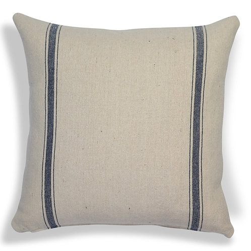 """""""Farmhouse Three Stripe (Blue) Pillow Covers"""" from the Throw Pillow & Blanket Collection @InsidePlannet.  Made in USA."""