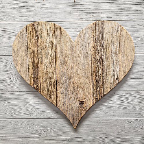"""""""Barn Wood Heart - Naturally-Aged"""" from the Wall Art Collection @InsidePlannet"""