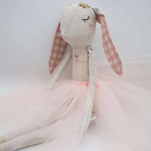 """LaLa Bunny Ballerina"" from the Handmade Doll Collection @InsidePlannet.   Made in USA."