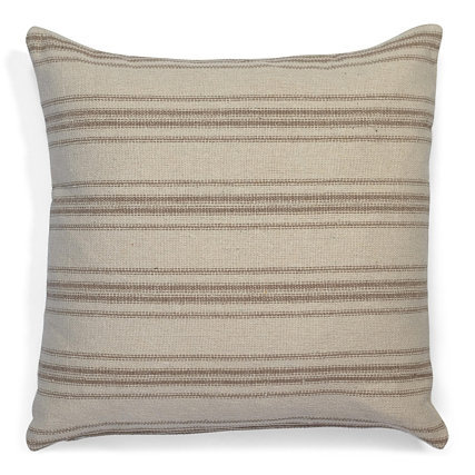 """Farmhouse Twelve Stripe (Tan) Pillow Covers"" from the Throw Pillow & Blanket Collection @InsidePlannet.  Made in USA."