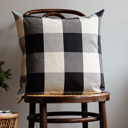 """""""Farmhouse Black/White Buffalo Check Plaid Pillow Covers"""" from the Throw Pillow & Blanket Collection @InsidePlannet."""