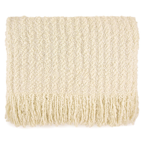 """Berkshire Cream Throw"" from the Throw Pillow & Blanket Collection @InsidePlannet. Made in USA."