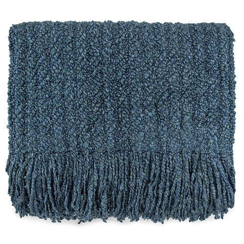 """""""Berkshire Bristol Blue Throw"""" from the Throw Pillow & Blanket Collection @InsidePlannet. Made in USA."""