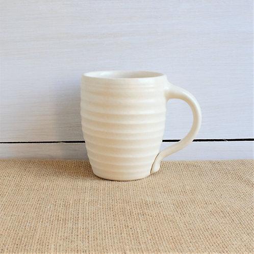 Farmhouse Ridges Mug - Drift White