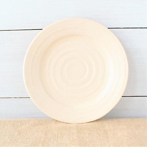 Farmhouse Ridges Dinner Plate - Drift White