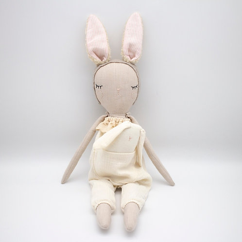 """""""Bunny Bonbon with Baby"""" from the Handmade Doll Collection @InsidePlannet.   Made in USA."""