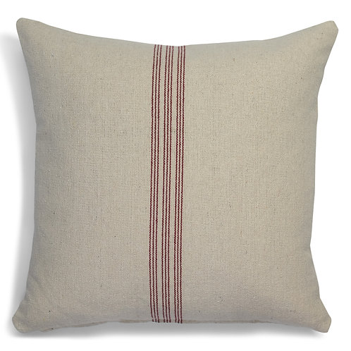 """Farmhouse Nine Stripe (Red) Pillow Covers"" from the Throw Pillow & Blanket Collection @InsidePlannet.  Made in USA."