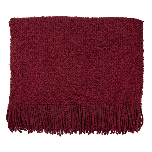 """""""Campbell Scarlet Throw"""" from the Throw Pillow & Blanket Collection @InsidePlannet. Made in USA."""