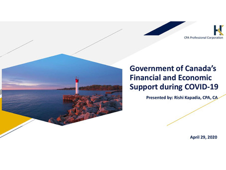 Government of Canada's Financial and Economic Support