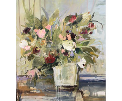 Ganek_Floral Vignette#2_acryl_48x48
