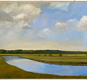 MacAdam_LowCloudsOverEssexRiver_oil_36x4