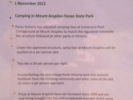 Mt Arapiles Campground Fees