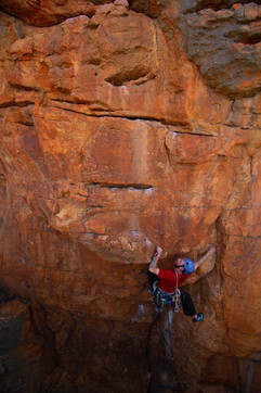Andrew Trotter on Down and Out, Mt. Arapiles