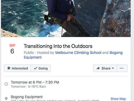 Transitioning Into the Outdoors Event