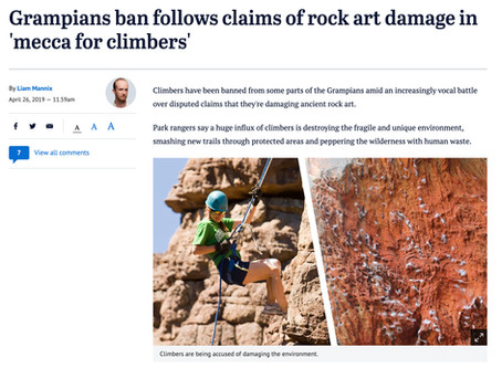 Rock Climbing article and misinformation