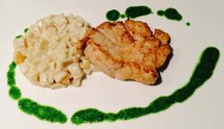 Riz de veau aux jus de persil