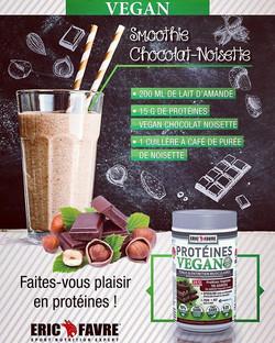 Un #smoothie #protéiné & #vegan, saveur #ChocolatNoisette ça tente quelqu'un __Eric Favre Sport vous