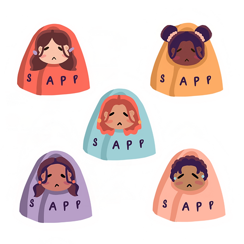(2) Sleeping Bag SAPP Sticker