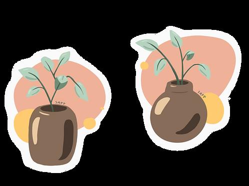 (2) Plants SAPP Sticker Art