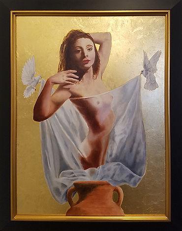 The Enchanted Amphora-Ted Genard-Oil & Gold Leaf-$1200.jpg