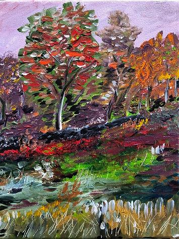 8x10 $30 acrylic on canvas Brookside Woo