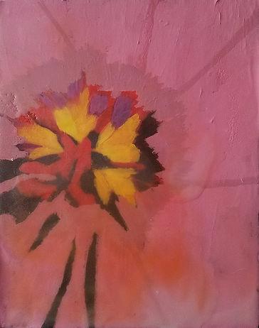Pink Tulip-Lindsay Aromin-Encaustic on Birch-$299-HONORABLE MENTION.jpg