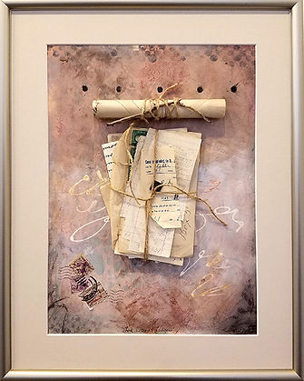 Love Letters and Ledgers-Assemblage-16x2
