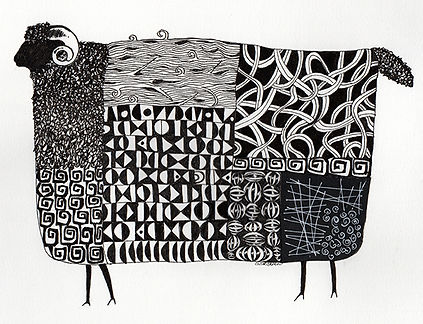 Black Sheep-Carol Dunn-Pen&Ink-$150.jpg