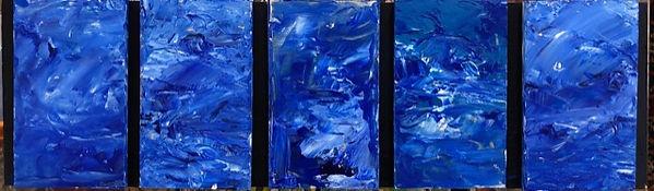 18.5x5.5 $50 acrylic on wood Cinq Bleu.j